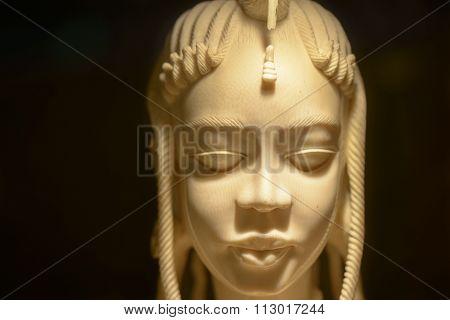 Oriental Ivory Statuette