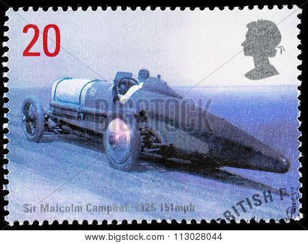 Britain Land Speed Record Postage Stamp
