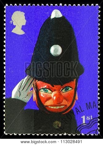 Britain Punch and Judy Postage Stamp