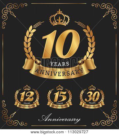 10 Years Anniversary decorative logo