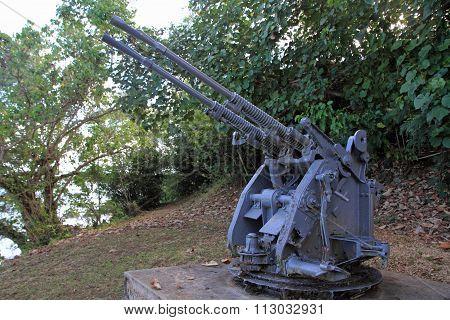 Anti Air Artillery in Ga'an Point Guam Micronesia