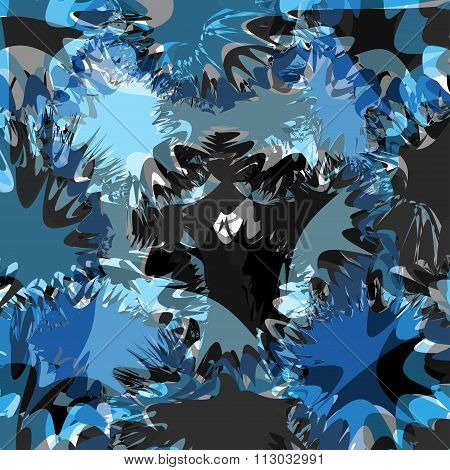 Blue Blots Bright Abstract Background Vector Illustration