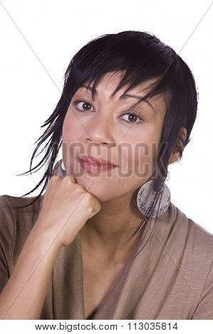 Close Up Of A Beautiful Asian Girl