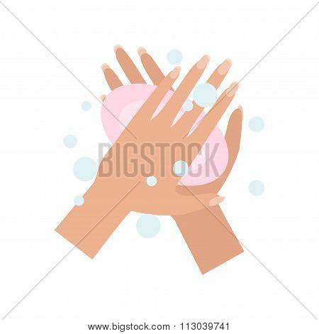 Wash Hands. Vector Illustration