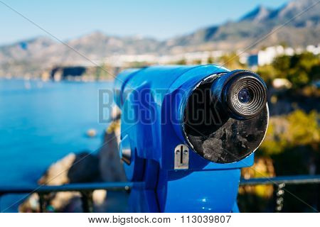 Coin Operated Telescope For Sightseeing