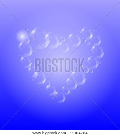 Transparent Heart With Bubbles