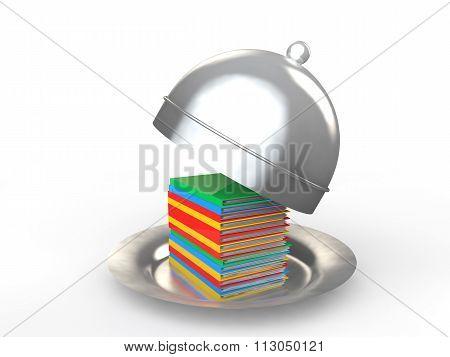 3d file folders in a serving plate