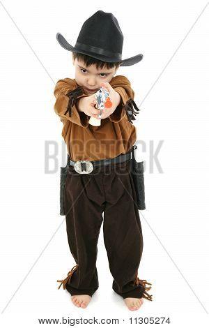 Boy In Cowboy Sheriff Costume