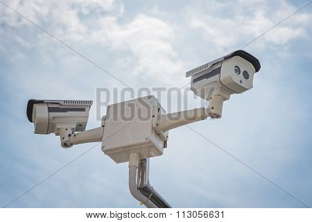 Two Of Cctv Security Camera