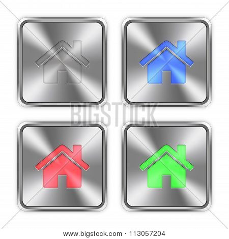 Color Home Steel Buttons