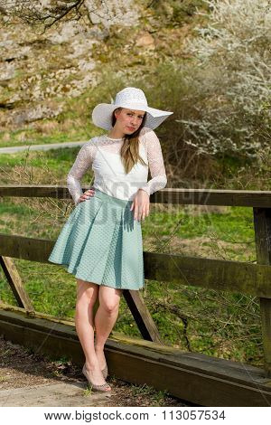 Fashionable Woman In Spring