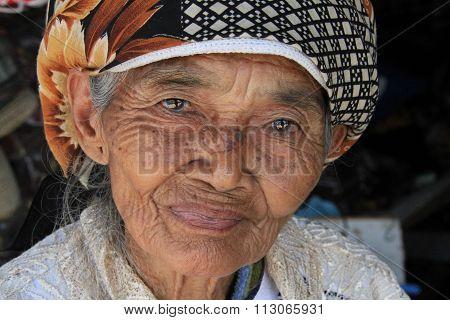 Old woman in Yogyakarta
