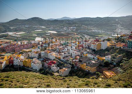 Galdar city on Gran Canaria island