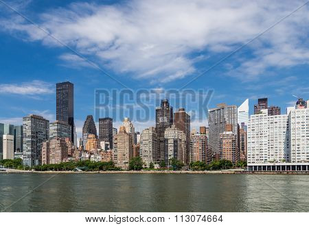 New York Residential Building By East River From Roosevelt Island