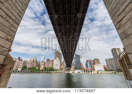 Ed Koch Queensboro Bridge And Roosevelt Tram, New York City.