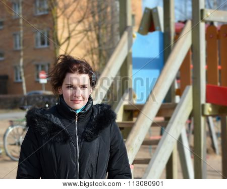Portrait Of A Girl Outdoor