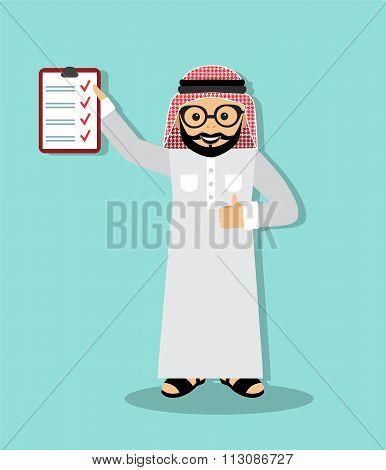 Arabic businessman executed business plan