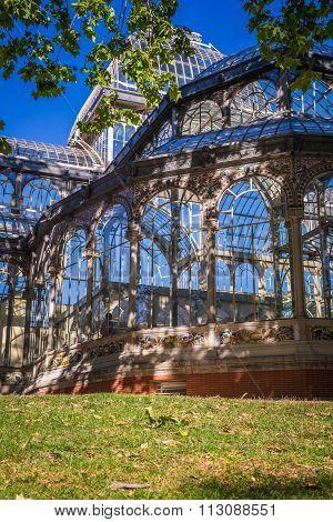 Crystal Palace (palacio De Cristal) In Retiro Park,madrid, Spain.
