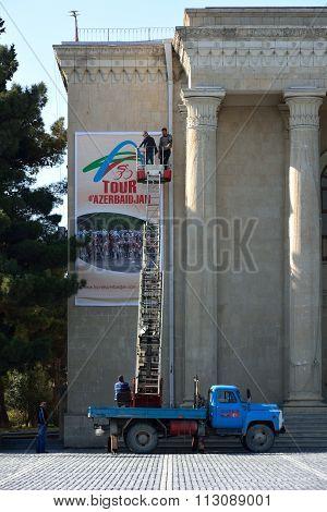 Preparations in Sumgait for Tour of Azerbaijan