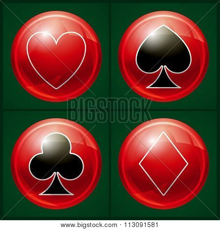 Poker casino button