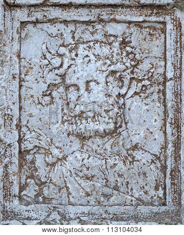 Antique Bacchus portrait