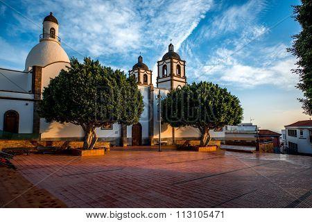 Church in Ingenio town on Gran Canaria island