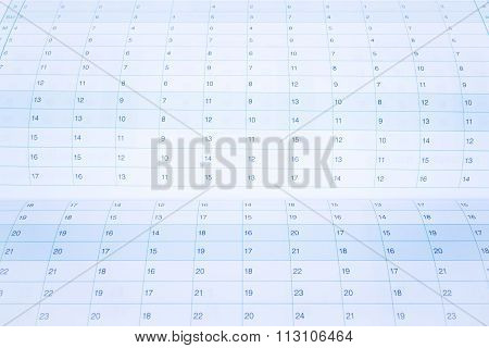 Date number of calendar paper, stock photo