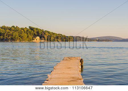 bay of Nidri in Lefkas island Greece