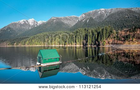 Capilano Reservoir Mountains Vancouver British Columbia