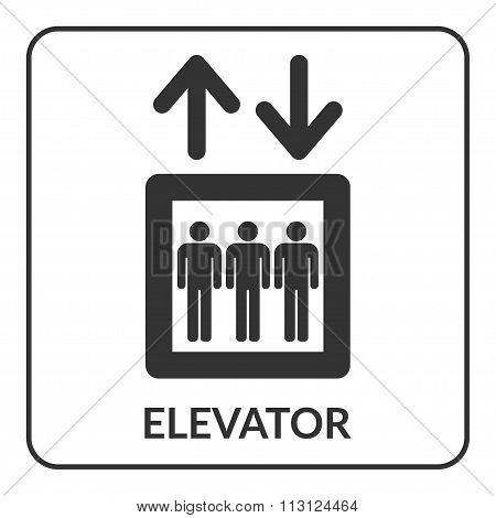 Elevator Icon. Lift Symbol