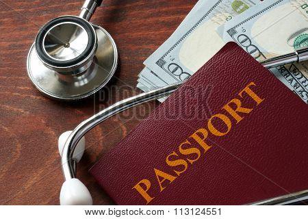 Medical tourism concept.