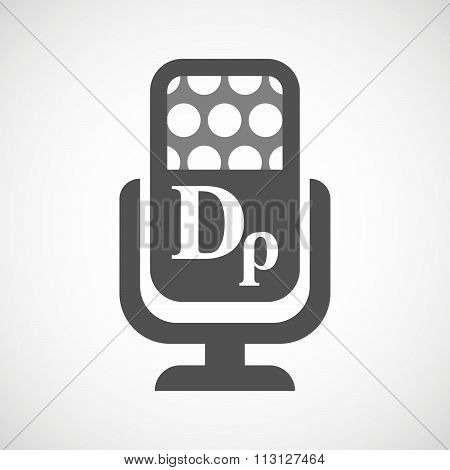 Isolated Microphone Icon With A Drachma Currency Sign