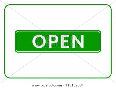 Open Sign Green