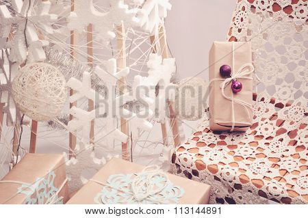 Christmas Photo Zone In Eco-style
