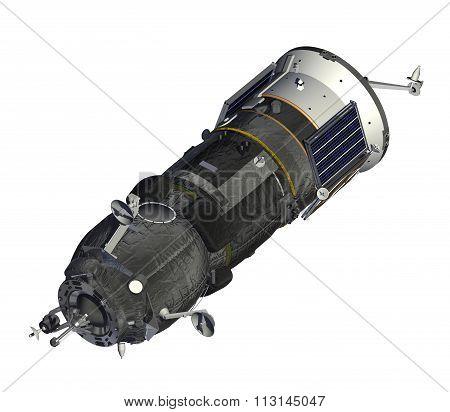 Cargo Spacecraft Closed Solar Panels