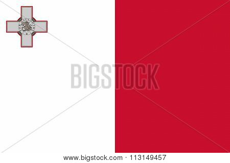 Standard Proportions and Color for Malta Flag poster