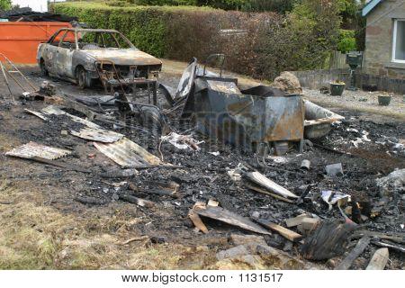 Burnt Out Garage