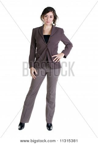 Female Model In Business Casual Clothes