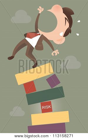Risk Manager Standing On The Top