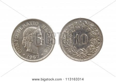 10 Switzerland  Helvetica Coin