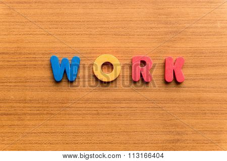 Work Colorful Word