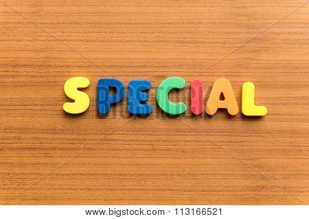 Special Colorful Word