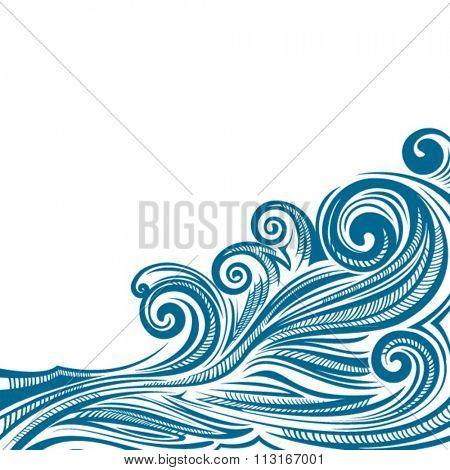 Vector ocean pattern