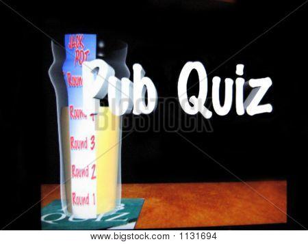 Pub Quiz. Game. Symbol General Knowledge