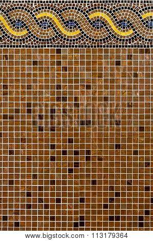 Mosaic tiles.