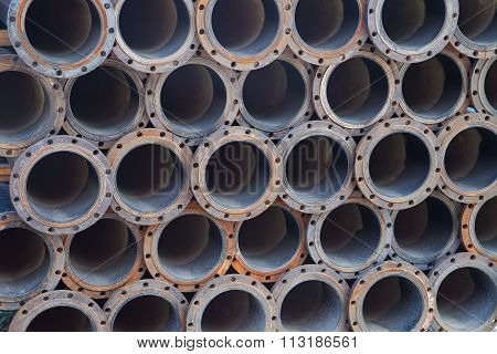 Steel Pipes Texture Background