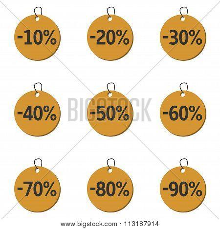 Discount price icons
