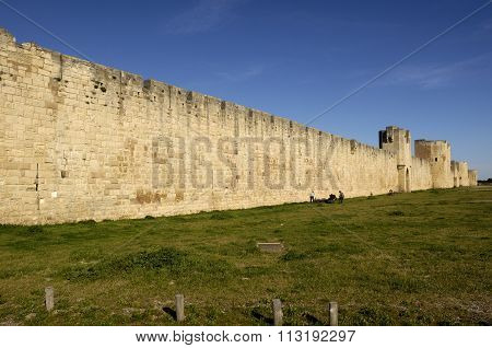 Walls Of Aigues-mortes, Camargue