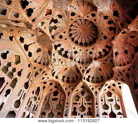 Safavid Era Palace Ali Qapu Built In Early 17Th Century In Isfahan, Iran