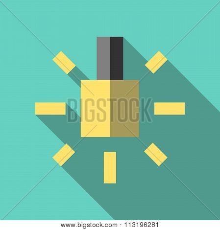 Lightbulb Icon, Flat Style